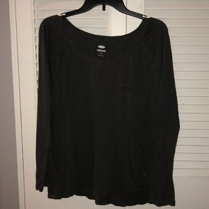 Dark gray long sleeve shirt